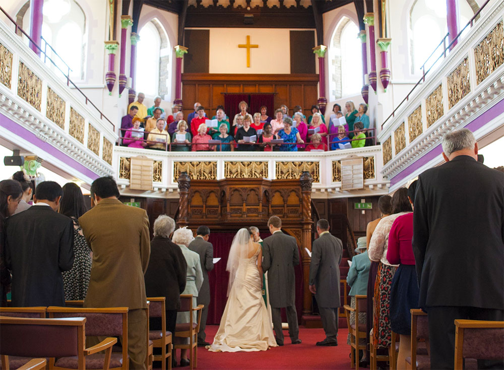 The Voice Choir may be be booked for singing at weddings